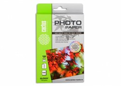 Фотобумага Cactus CS-GA6180100 10x15, 180г/м2, 100л, белая глянцевая для струйной печати - фото 4479