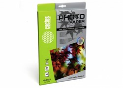 Фотобумага Cactus CS-GA415050 A4, 150г/м2, 50л, белая глянцевая для струйной печати - фото 4498