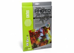 Фотобумага Cactus CS-GMA423020 A4, 230г/м2, 20л, белая глянцевая/матовая для струйной печати - фото 4522
