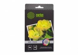 Фотобумага Cactus CS-MIXPACKА6 A6, 21л., белый различная фактура для струйной печати - фото 4568