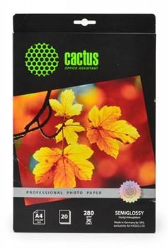 Фотобумага полуглянцевая Cactus Prof CS-SGA428020 A4, 280г/м2, 20л. - фото 4577