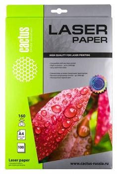Фотобумага Cactus CS-LPA4160100 A4, 160г/м2, 100л., белый глянцевое для лазерной печати - фото 4604