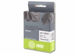 Лента Cactus CS-TZ231 (TZE-231) черный для принтеров P-touch PT-1010, PT-1280, PT-1280VP, PT-2700VP (12 мм x 8 м) - фото 4615
