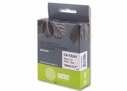 Лента Cactus CS-TZ241 (TZE-241) черный для принтеров P-touch PT-1010, PT-1280, PT-1280VP, PT-2700VP (18 мм x 8 м) - фото 4618