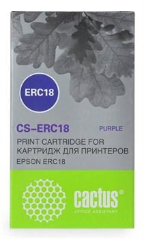 Матричные картриджи Cactus CS-ERC18 фиолетовый для Epson ERC 18, ER4615-R - фото 4654