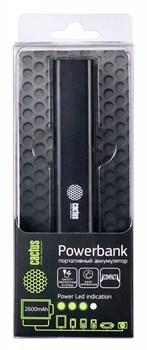 Мобильный аккумулятор Cactus CS-PBAS120-2600BK 2600mAh 1A черный - фото 4661