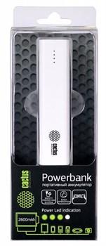 Мобильный аккумулятор Cactus CS-PBAS120-2600WT 2600mAh 1A белый - фото 4666