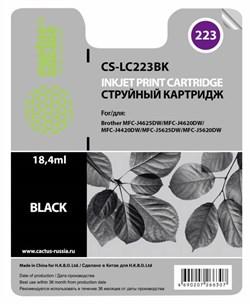 Струйный картридж Cactus CS-LC223BK (LC-223BK) черный для принтеров DCP-J4120DW, MFC-J4420DW, J4620DW (550 стр.) - фото 4708