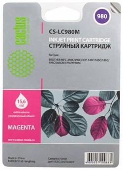 Струйный картридж Cactus CS-LC980M (LC-980M) пурпурный для принтеров DCP-145C, DCP-163C, DCP-165C, DCP-167C, DCP-195C, DCP-197C, DCP-365CN, DCP-375CW, DCP-377CW, MFC-250C, MFC-255CW, MFC-257CW, MFC-290C, MFC-295CN, MFC-297C (260 стр.) - фото 4720