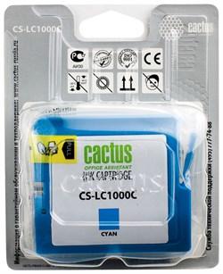 Струйный картридж Cactus CS-LC1000C (LC-1000C) голубой для принтеров DCP-130C, DCP-330C, DCP-350C, DCP-357C, DCP-540CN, DCP-560CN, DCP-750CW, DCP-770CW, MFC-240C, MFC-440CN, MFC-465CN, MFC-660CN, MFC-680CN, MFC-845CW, MFC-885CW, MFC-3360C, MFC-5460CN, MF - фото 4731