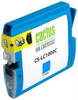 Струйный картридж Cactus CS-LC1000C (LC-1000C) голубой для принтеров DCP-130C, DCP-330C, DCP-350C, DCP-357C, DCP-540CN, DCP-560CN, DCP-750CW, DCP-770CW, MFC-240C, MFC-440CN, MFC-465CN, MFC-660CN, MFC-680CN, MFC-845CW, MFC-885CW, MFC-3360C, MFC-5460CN, MF - фото 4732