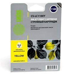 Струйный картридж Cactus CS-LC1100Y (LC-1100Y) желтый для принтеров DCP-185C, DCP-383C, DCP-385C, DCP-387C, DCP-395CN, DCP-585CW, DCP-J715W, DCP-6690CW MFC-490CW, MFC-J615W, MFC-790CW, MFC-795CW, MFC-990CW, MFC-5490CN, MFC-5890CN, MFC-5895CW, MFC-6490CW, - фото 4753