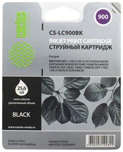 Струйный картридж Cactus CS-LC900BK (LC900Bk) черный для принтеров Brother DCP-110c, 115c, 117c, 120c, 310cn, 315cn, 340cw, MFC-210c, 215c, 3240c, 3340cn, 410cn, 425cn, 5440cn, 5840cn, 620cn, 640cw (25,6 мл) - фото 4789