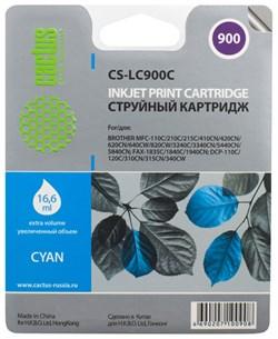 Струйный картридж Cactus CS-LC900C (LC900C) голубой для принтеров Brother DCP-110c, 115c, 117c, 120c, 310cn, 315cn, 340cw, MFC-210c, 215c, 3240c, 3340cn, 410cn, 425cn, 5440cn, 5840cn, 620cn, 640cw (16,6 мл) - фото 4793