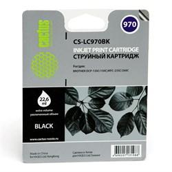 Струйный картридж Cactus CS-LC970BK (LC-970BK) черный для принтеров DCP-135C, DCP-150C, MFC-235C, MFC-260C (350 стр.) - фото 4805