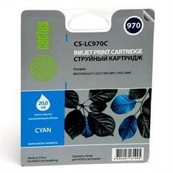 Струйный картридж Cactus CS-LC970C (LC-970C) голубой для принтеров DCP-135C, DCP-150C, MFC-235C, MFC-260C (300 стр.) - фото 4809