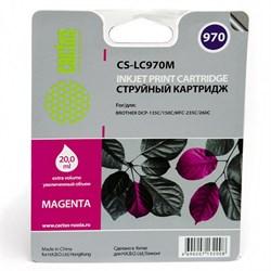 Струйный картридж Cactus CS-LC970M (LC-970M) пурпурный для принтеров DCP-135C, DCP-150C, MFC-235C, MFC-260C (300 стр.) - фото 4812