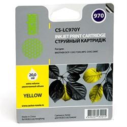 Струйный картридж Cactus CS-LC970Y (LC970Y) желтый для принтеров Brother DCP 135, DCP 135c, DCP 150, DCP 150c, DCP 153c, DCP 157c, DCP 750cn, MFC 235, MFC 235c, MFC 260, MFC 260c (20 мл) - фото 4816