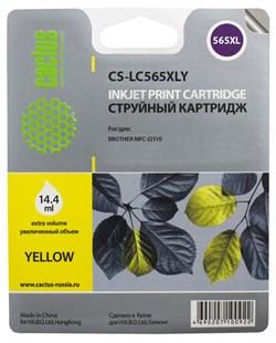 Струйный картридж Cactus CS-LC565XLY (LC-565XLY) желтый для принтеров MFC-J2310, MFC-J2510, MFC-J3520, MFC-J3722 (1200 стр.) - фото 4831