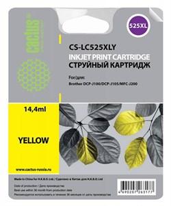 Струйный картридж Cactus CS-LC525XLY (LC-525XLY) желтый для принтеров DCP-J100, DCP-J105, MFC-J202 (1300 стр.) - фото 4835