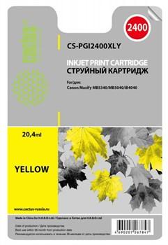 Струйный картридж Cactus CS-PGI2400XLY (PGI-2400XLY) желтый для принтеров Canon MAXIFY iB4040, MB5040, MB5342 (1757 стр.) - фото 4839
