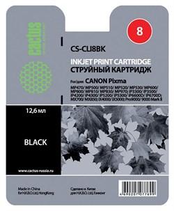 Струйный картридж Cactus CS-CLI8BK (CLI-8BK) фото черный для принтеров Canon Pixma iP4200, iP4200x, iP4300, iP4500, iP4500x, iP5200, iP5200r, iP5300, iP6600, iP6600d, iP6700, iP6700d, MP500, MP530, MP600, MP600R, MP610, MP800, MP800R, MP810, MP830, MP950, - фото 4907