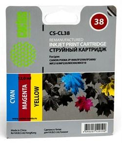 Струйный картридж Cactus CS-CL38 (2146B005) цветной для Canon Pixma iP1800, iP1900, iP2500, iP2600, MP140, MP190, MP210, MP220, MP470, MX300 (205 стр.) - фото 4956