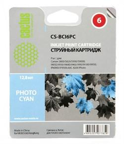 Струйный картридж Cactus CS-BCI6PC (BCI-6PC) светло голубой для принтеров Canon BJ 535, 895, F-9000, BJC 8200, 8200Photo, i560 series, i560X, i860, i865, i900D, i900, i905, i905D, i950, i960, i965, i990, i9100, i9900, i9950, Pixma iP3000, iP3100, iP4000, - фото 4970