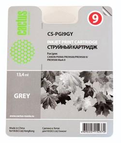 Струйный картридж Cactus CS-PGI9GY (1042B001) серый для Canon Pixma iX7000, MX7600, PRO-9500, PRO9500 Mark II (650 стр.) - фото 5003