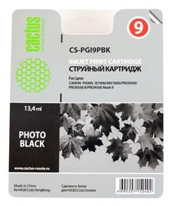 Струйный картридж Cactus CS-PGI9PBK (PGI-9PBK) фото черный для принтеров Canon Pixma iX7000, MX7600, PRO 9500, PRO9500 Mark II (650 стр.) - фото 5021