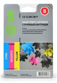 Струйный картридж Cactus CS-CLI8C/M/Y (0621B029AA) цветной для Canon Pixma iP3300, iP3500, iP4200, iP4200x, iP4300, iP4500, iP4500x, iP5200, iP5200r, iP5300, iP6600, iP6600d, iP6700, iP6700d, iX4000, iX5000, MP500, MP510 (1'470 стр.) - фото 5065