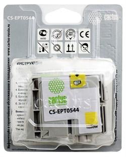 Струйный картридж Cactus CS-EPT0544 (C13T05444010) желтый для принтеров Epson Stylus Photo R800, R1800 (16,2 мл.) - фото 5118