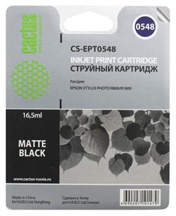 Струйный картридж Cactus CS-EPT0548 (T0548) черный матовый для принтеров Epson Stylus Photo R800, R1800 (16,2 мл) - фото 5123