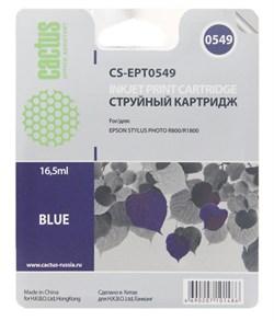 Струйный картридж Cactus CS-EPT0549 (C13T05494010) синий для принтеров Epson Stylus Photo R800, R1800 (16.5 мл) - фото 5124