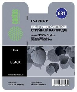 Струйный картридж Cactus CS-EPT0631 (C13T06314A10) черный для принтеров Epson Stylus C67, C87, CX3700, CX4100, CX4700 (10 мл.) - фото 5127