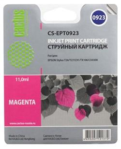 Струйный картридж Cactus CS-EPT0923 (C13T09234A10) пурпурный для принтеров Epson Stylus C91, C240, CX4300, T26, T27, TX106, TX109, TX117, TX119 (280 стр.) - фото 5185