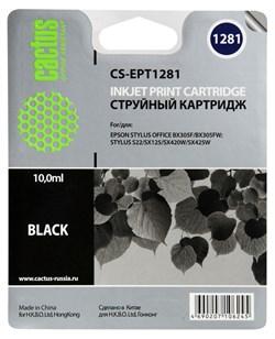 Струйный картридж Cactus CS-EPT1281 (C13T12814011) черный для принтеров Epson Stylus S22, S125, SX130, SX230, SX235W, SX420W, SX425W, SX430W, SX435W, SX440W, SX445W, Office BX305F (270 стр.) - фото 5193