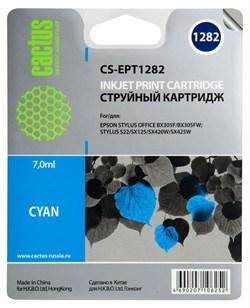 Струйный картридж Cactus CS-EPT1282 (T1282) голубой для принтеров Epson Stylus S22, S125, SX130, SX230, SX235w, SX420w, SX425w, SX430w, SX435w, SX440w, SX445w, Office BX305f (7 мл.) - фото 5197