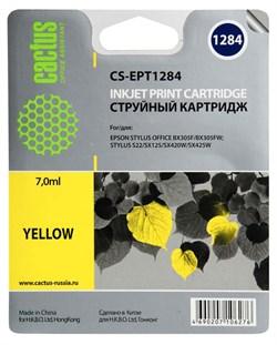 Струйный картридж Cactus CS-EPT1284 (C13T12844011) желтый для принтеров Epson Stylus S22, S125, SX130, SX230, SX235W, SX420W, SX425W, SX430W, SX435W, SX440W, SX445W, Office BX305F (270 стр.) - фото 5205