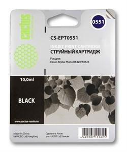 Струйный картридж Cactus CS-EPT0551 (C13T05514010) черный для принтеров Epson Stylus Photo R240, R245, RX420, RX425, RX520 (290 стр.) - фото 5229