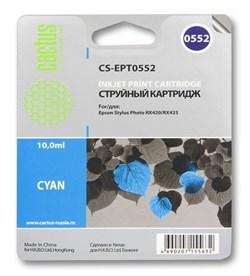 Струйный картридж Cactus CS-EPT0552 (C13T05524010) голубой для принтеров Epson Stylus Photo R240, R245, RX420, RX425, RX520 (290 стр.) - фото 5233