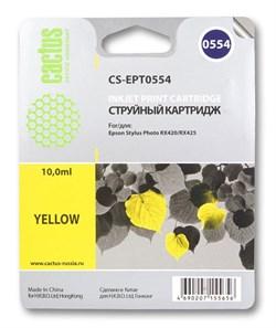 Струйный картридж Cactus CS-EPT0554 (C13T05544010) желтый для принтеров Epson Stylus Photo R240, R245, RX420, RX425, RX520 (290 стр.) - фото 5241