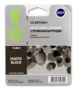Струйный картридж Cactus CS-EPT0591 (C13T05914010) черный глянцевый для принтеров Epson Stylus Photo R2400 (440 стр.) - фото 5245
