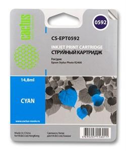 Струйный картридж Cactus CS-EPT0592 (C13T05924010) голубой для принтеров Epson Stylus Photo R2400 (440 стр.) - фото 5249