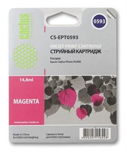 Струйный картридж Cactus CS-EPT0593 (C13T05934010) пурпурный для принтеров Epson Stylus Photo R2400 (440 стр.) - фото 5253