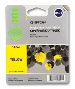Струйный картридж Cactus CS-EPT0594 (C13T05944010) желтый для принтеров Epson Stylus Photo R2400 (440 стр.) - фото 5257