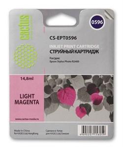 Струйный картридж Cactus CS-EPT0596 (C13T05964010) светло-пурпурный для принтеров Epson Stylus Photo R2400 (440 стр.) - фото 5265