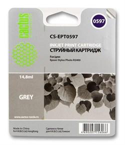 Струйный картридж Cactus CS-EPT0597 (T0597) серый для принтеров Epson Stylus Photo R2400 (14,8 мл) - фото 5269