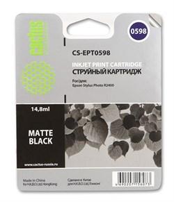 Струйный картридж Cactus CS-EPT0598 (C13T05984010) черный матовый для принтеров Epson Stylus Photo R2400 (440 стр.) - фото 5273