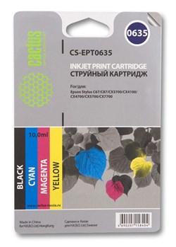 Струйный картридж Cactus CS-EPT0635 (C13T06354A10) набор для принтеров Epson Stylus C67, C87, CX3700, CX4100, CX4700 (4 x 250 стр.) - фото 5281